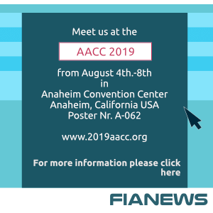 Meet us at the AACC 2019, August 4th-8th, Anaheim Convention Center Anaheim, California USA Poster A-062 www.2019aacc.org